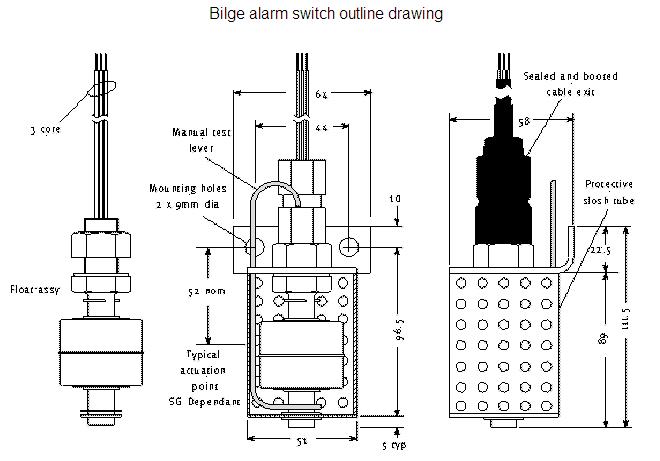 bilge alarm    water level switch bls 9200 bilge switch